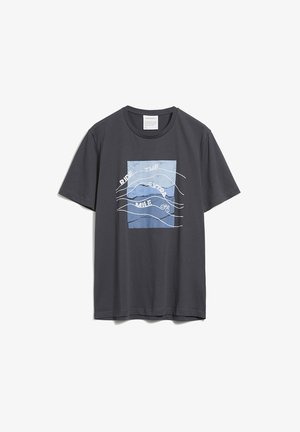 JAAMES EXTRA MILE - Print T-shirt - acid black