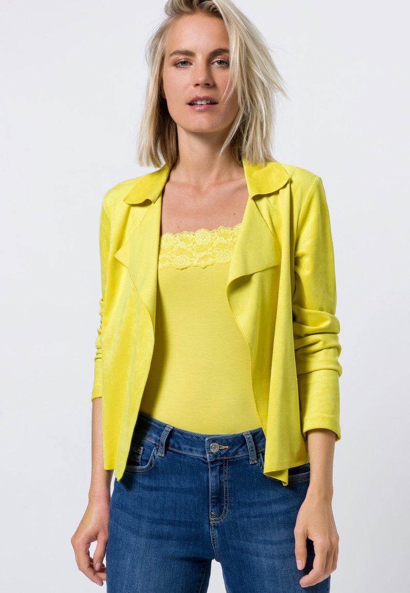 zero - Cardigan - yellow lime