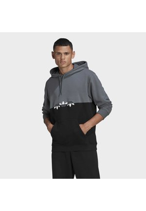 ADICOLOR SLICED TREFOIL HOODIE - Sweat à capuche - black