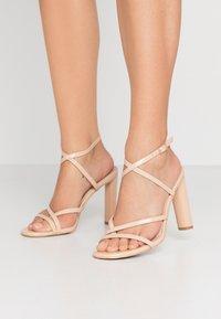 BEBO - PETAL - High heeled sandals - nude - 0
