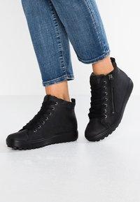 ECCO - SOFT 7 TRED - Sneakers alte - black - 0