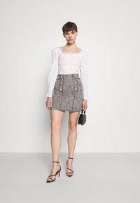 River Island - Mini skirt - black/white - 1