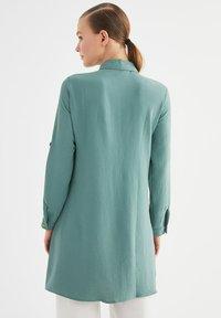 Trendyol - Button-down blouse - green - 2