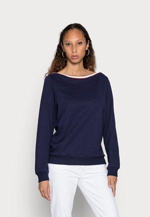 BOAT NECK - Sweater - dark blue