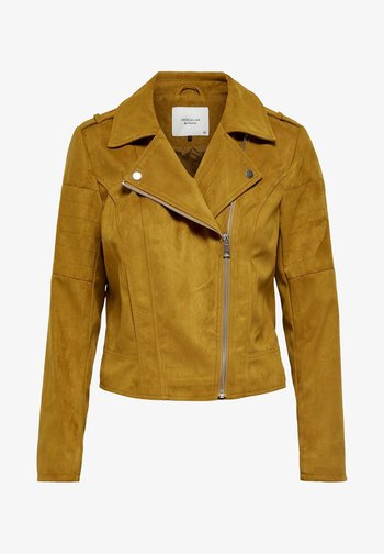 Faux leather jacket - golden brown