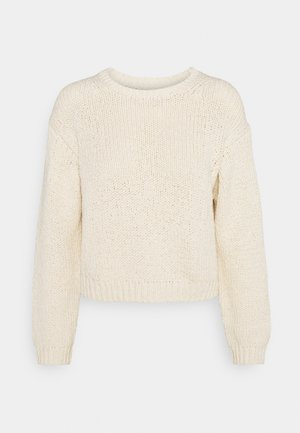 LONGSLEEVE ROUND NECK - Jumper - natural raw