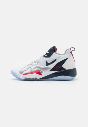 ZOOM '92 - Sneakersy wysokie - white/obsidian/true red/metallic silver/pure platinum/metallic gold