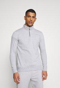 Burton Menswear London - REGULAR FIT 1/2 ZIP SET - Sweatshirt - grey melange - 3