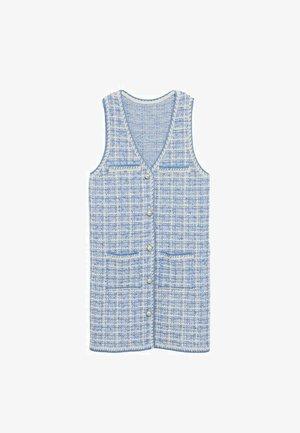 Strikket kjole - bleu