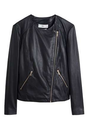 FELIPA - Leather jacket - black