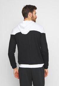Nike Performance - Zip-up hoodie - black/white - 2