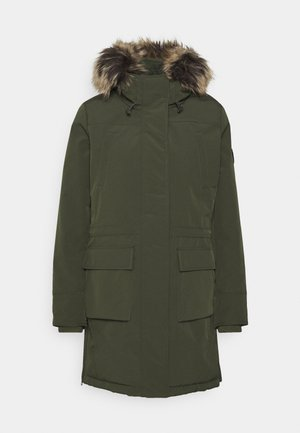 ONLNEWSALLY LONG COAT - Vinterkåpe / -frakk - forest night