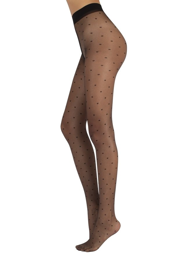 POLKA DOTS - Collant - black