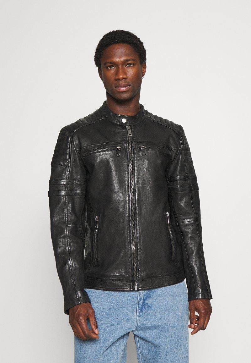 Freaky Nation - CRUISE ACTION - Leather jacket - black