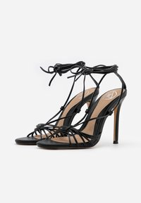 Missguided - KNOTTED STRAPPY STILETTO - Sandaler med høye hæler - black - 2