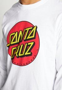 Santa Cruz - SANTA CRUZ UNISEX CLASSIC DOT TEE - Pitkähihainen paita - white - 6