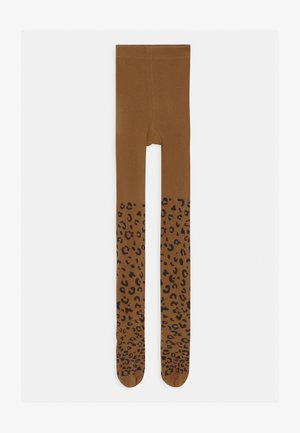 GIRLS LEOPARD  - Tights - brown