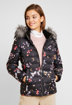 FLORAL HOODED JACKET - Down jacket - scattered