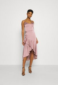 Nly by Nelly - SUCH A FLOUNCE MIDI DRESS - Cocktail dress / Party dress - dusty pink - 0