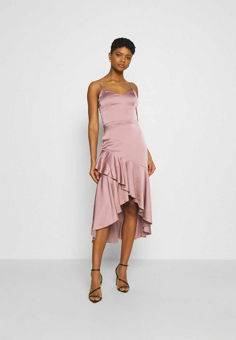 Nly by Nelly - SUCH A FLOUNCE MIDI DRESS - Cocktail dress / Party dress - dusty pink