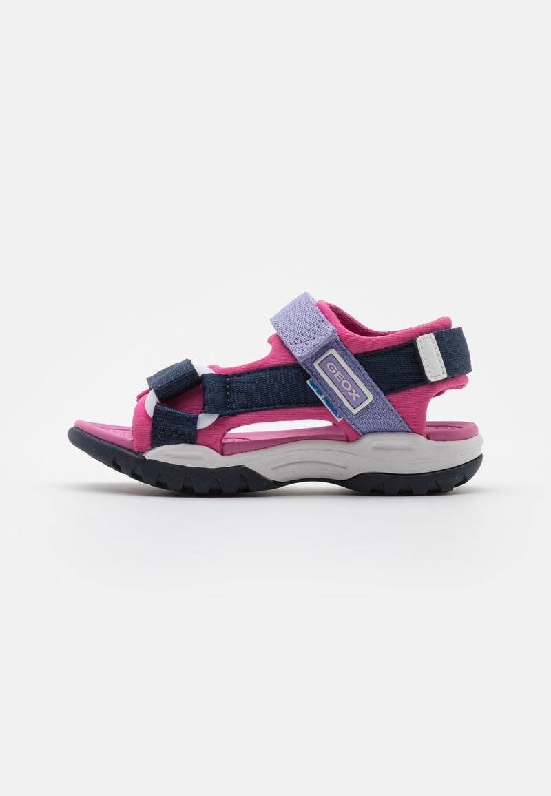 Geox - BOREALIS GIRL - Walking sandals - navy/fuchsia