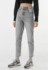 Bershka - Jeans baggy - grey - 0
