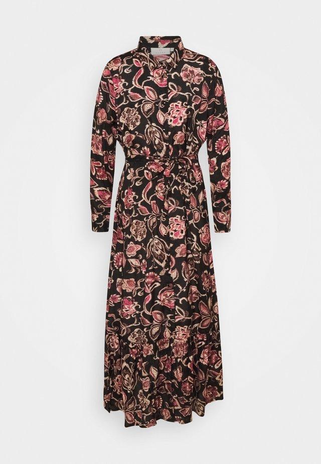 KAQUINNA SHIRT DRESS - Maxi dress - black/pink