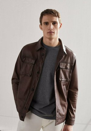 NAPPA  - Lederjacke - brown