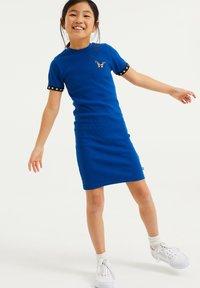 WE Fashion - Gebreide jurk - cobalt blue - 0