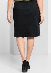 Sheego - Denim skirt - schwarz - 2