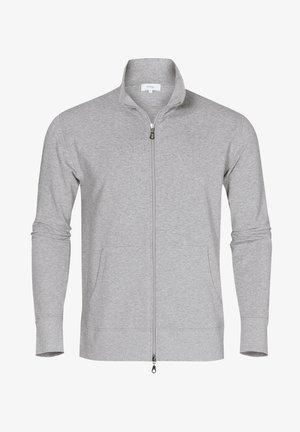 MIT REISSVERSCHLUSS - Zip-up sweatshirt - grey