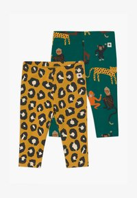 Lindex - LEO AND MONKEY 2 PACK - Legging - green - 0
