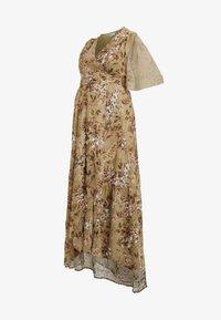 Hope & Ivy Maternity - FLUTTER SLEEVE WRAP DRESS - Maxi šaty - green - 4