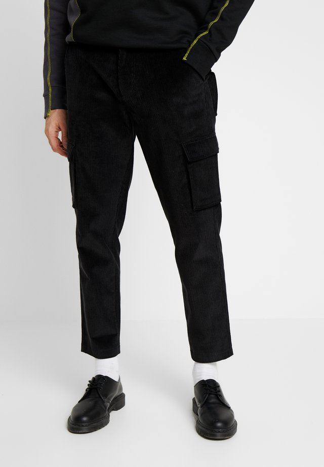 UTILITY TROUSERS - Cargo trousers - black