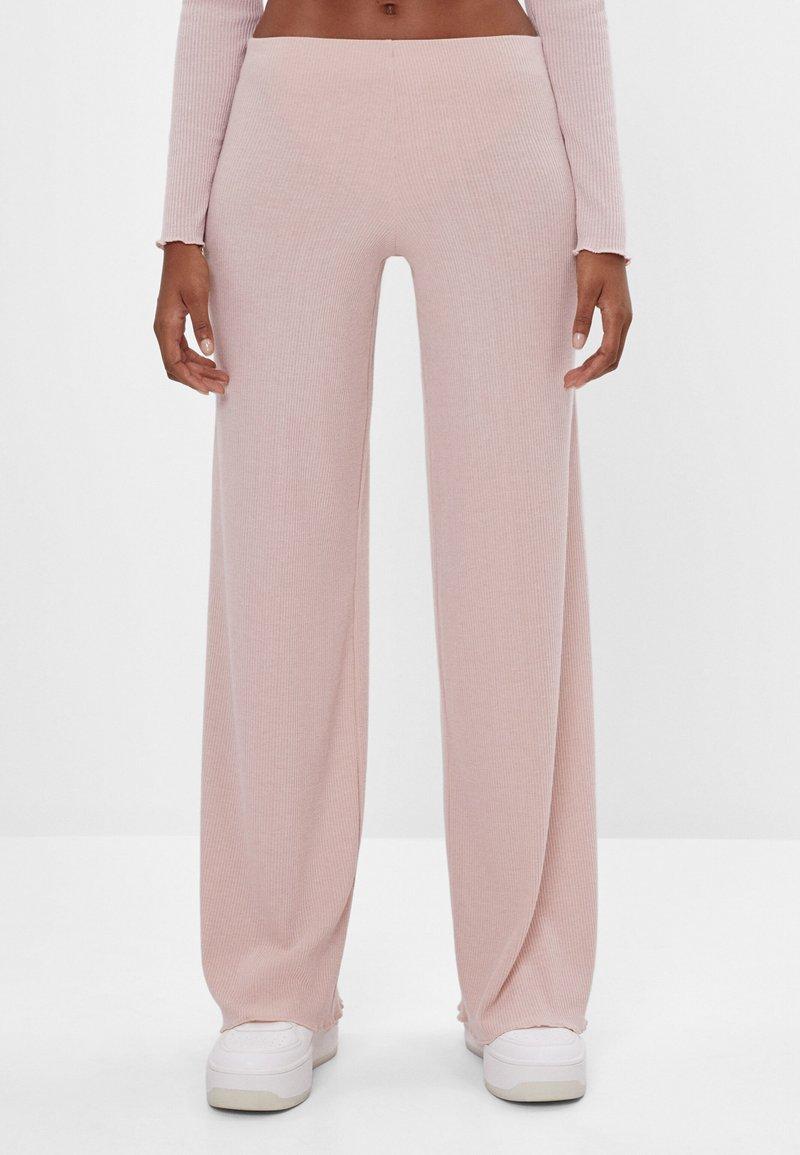 Bershka - Kalhoty - pink