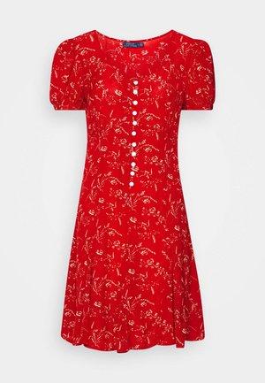 SHORT SLEEVE CASUAL DRESS - Hverdagskjoler - red