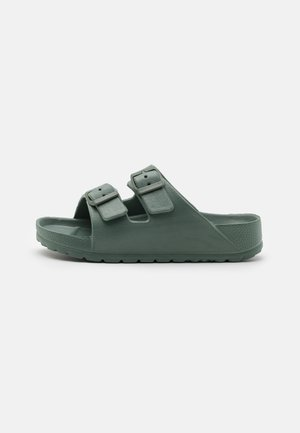 TWIN STRAP SLIDE UNISEX - Pantofle - swag green