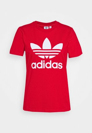 TREFOIL TEE - T-shirt z nadrukiem - light red