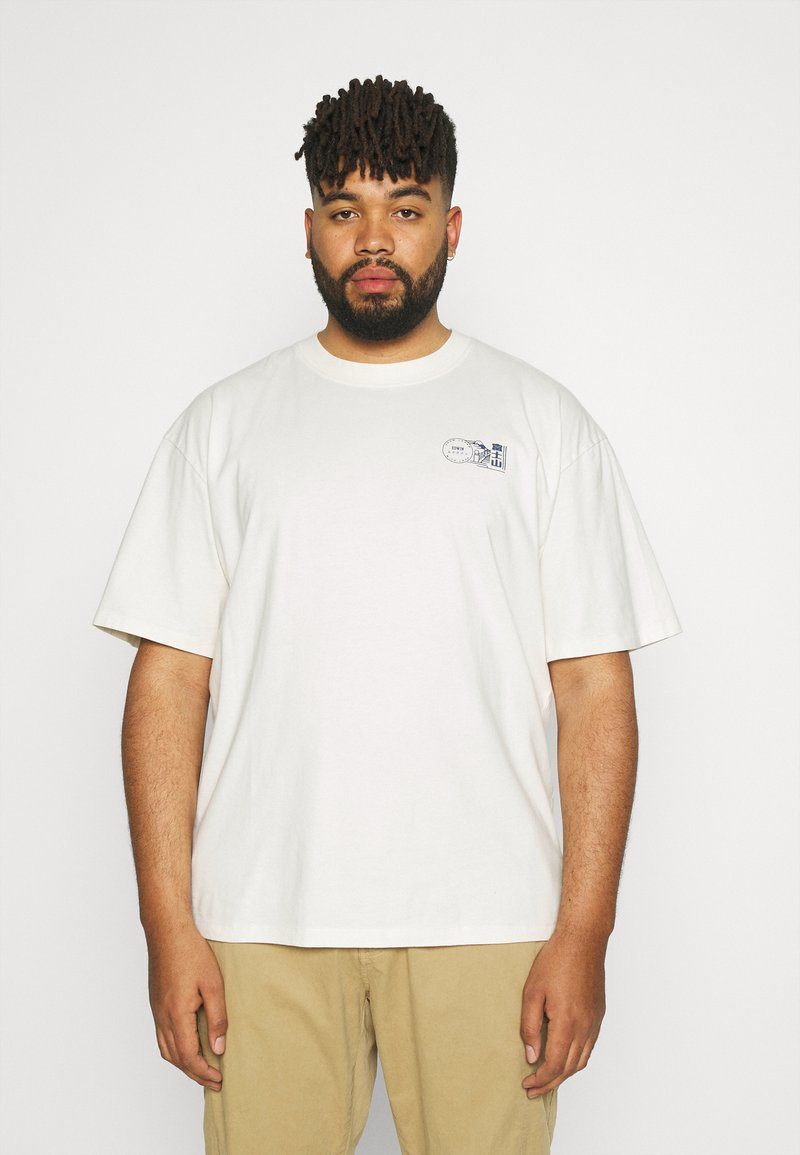 Edwin - MONDOKORO - Print T-shirt - whisper white