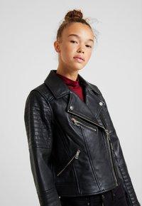 River Island Petite - CATO JACKET - Faux leather jacket - black - 3
