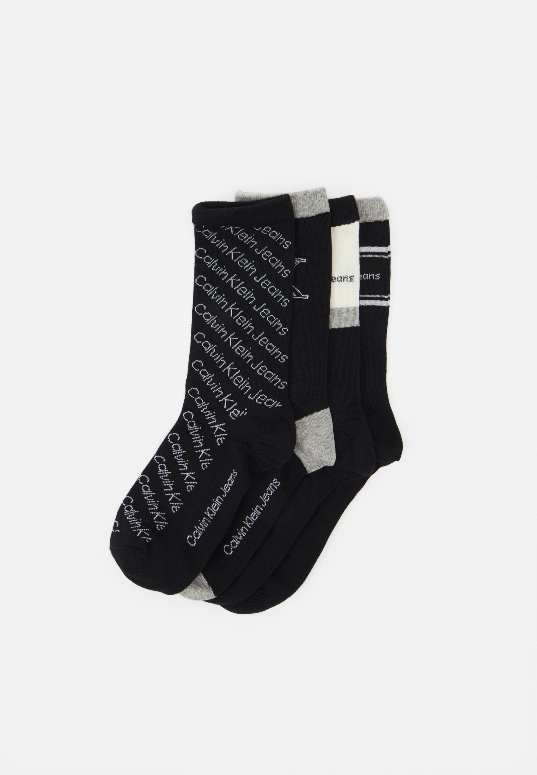 Femme WOMENS LOGO DRESS CREW GIFTBOX EVE 4 PACK - Chaussettes