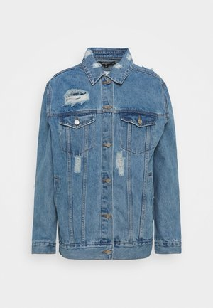 DISTRESSED BOYFRIEND JACKET - Denim jacket - blue