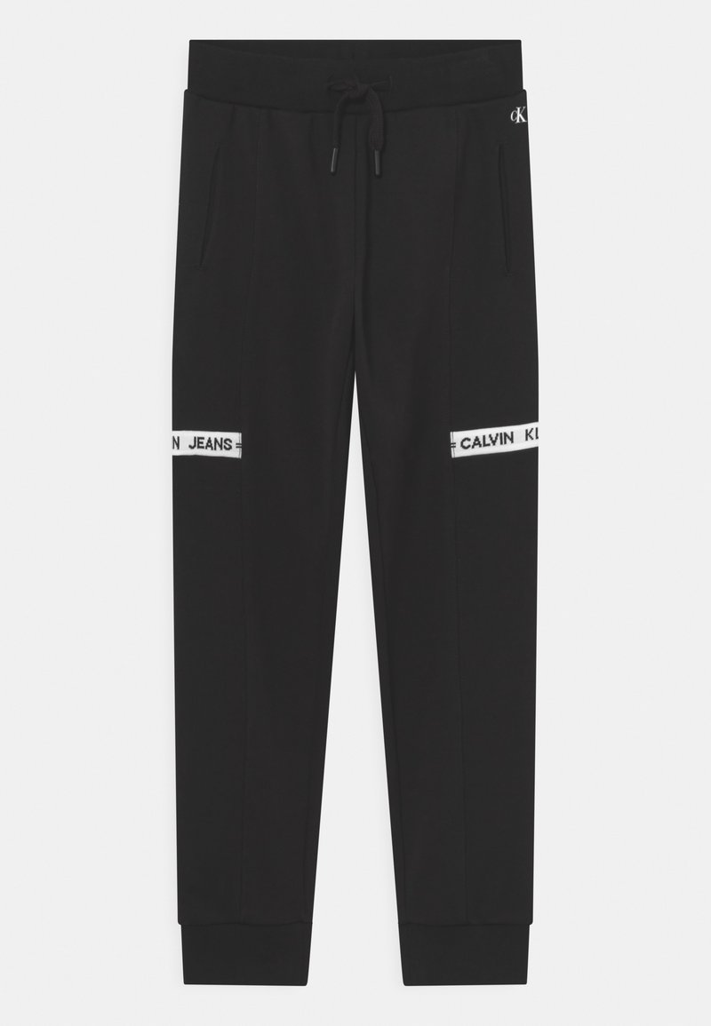 Calvin Klein Jeans - INTARSIA  - Teplákové kalhoty - black