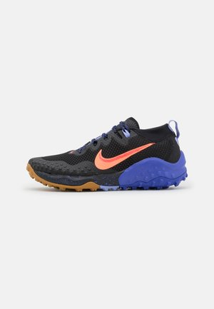 WILDHORSE 7 - Trail running shoes - black/bright mango/lapis/light thistle/flash crimson/wheat