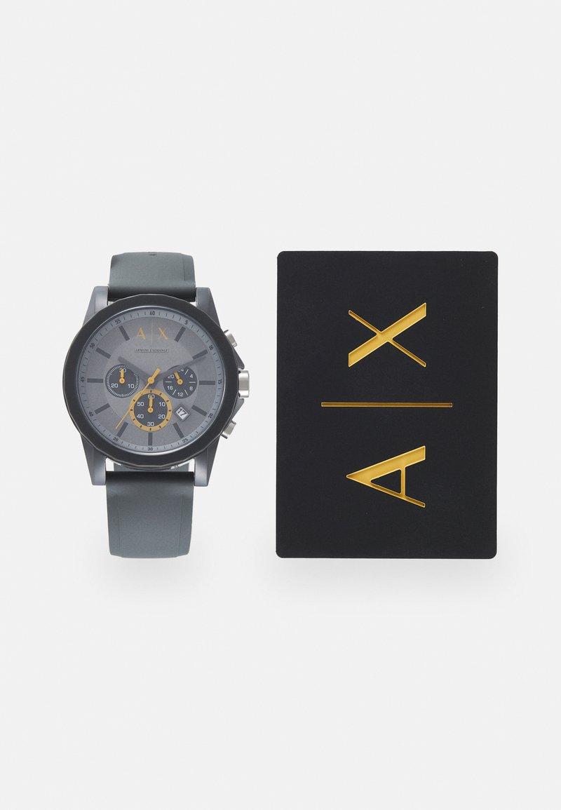 Armani Exchange - SET - Hodinky se stopkami - gray