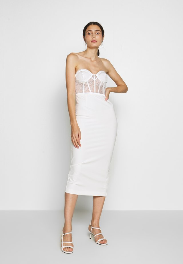 KIRBY DRESS - Juhlamekko - white