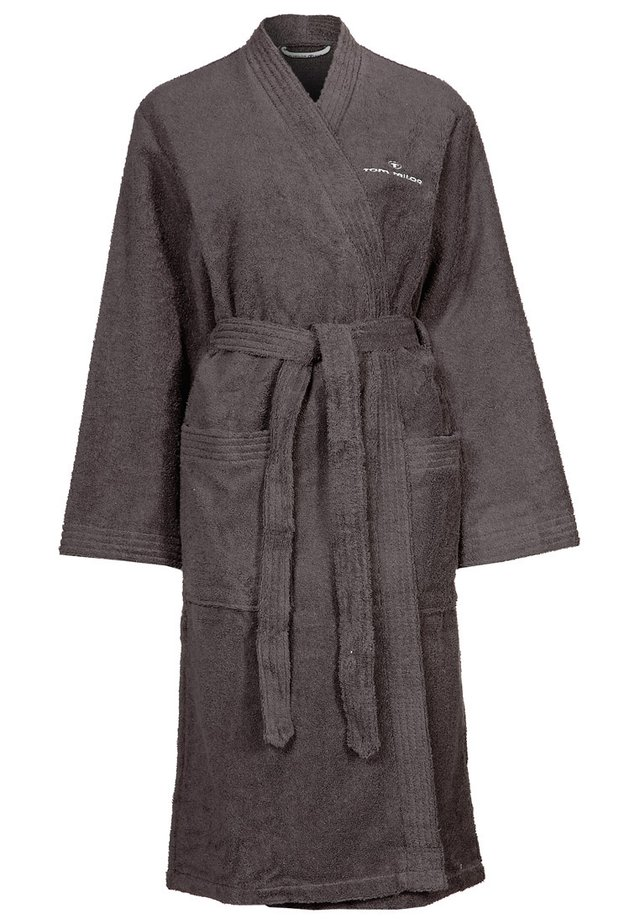 KIMONO BATHROBE - Peignoir - dark grey