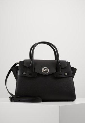 CARMENLG FLAP BELTED SATCHEL - Handbag - black