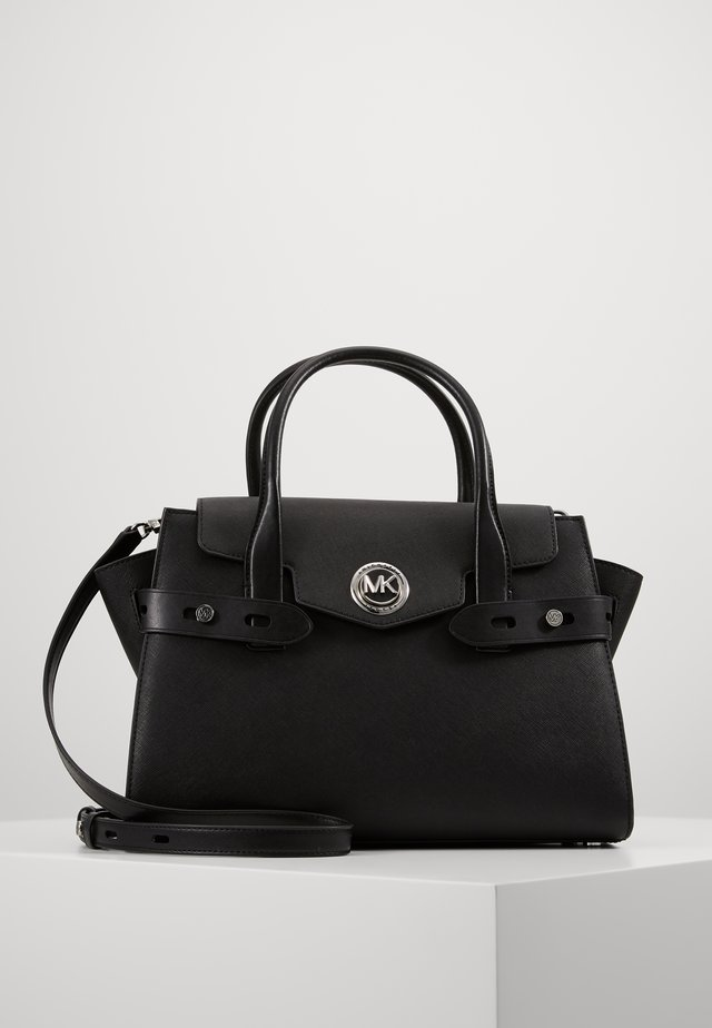 CARMENLG FLAP BELTED SATCHEL - Sac à main - black