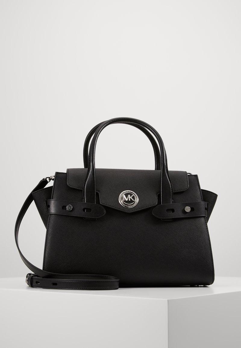 MICHAEL Michael Kors - CARMENLG FLAP BELTED SATCHEL - Handbag - black